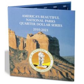 """Альбом-планшет для монет США серии """"Национальные парки"""". Leuchtturm"""