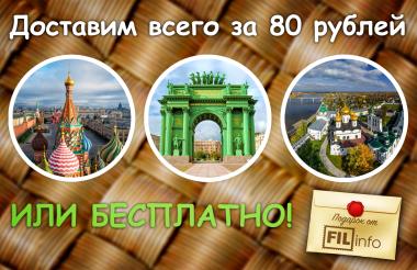 Доставим за 80 рублей или БЕСПЛАТНО*!