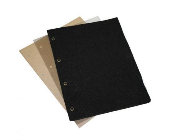 Комплект листов для значков Optima, (черная ткань), 5 листов. СомС