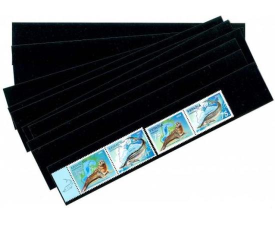Клеммташи для марок черные 217х49 мм. Leuchtturm.