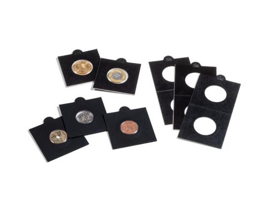 Холдеры для монет (черные) KRS(S) 39,5 мм, самоклеющиеся, упаковка 25 шт.