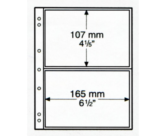 Лист NUMIS NH 02 (прозрачный), на 2 ячейки. Leuchtturm