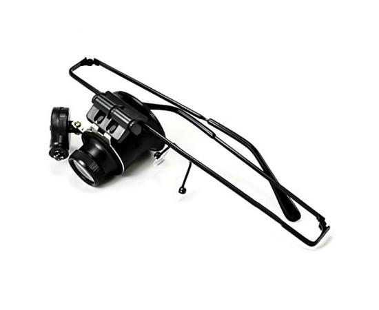 Лупа-очки с подсветкой, увеличение 20, с подсветкой (1 LED). Китай, #MG989A