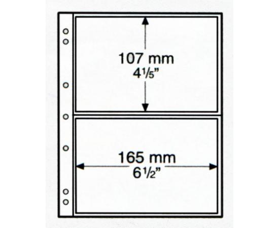 Лист NUMIS 2C/5 (прозрачный), на 2 ячейки. Leuchtturm