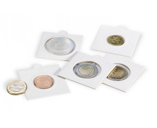 Холдер для монет (белый) KRS 22,5 мм, самоклеющийся. Leuchtturm