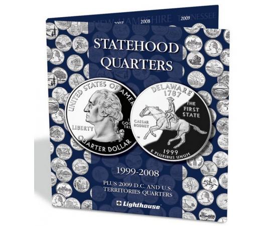 """Альбом-планшет для монет США серии """"Штаты и территории"""". Leuchtturm"""