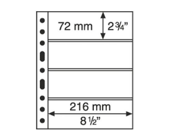 Лист GRANDЕ 4C (прозрачный), на 4 ячейки. Leuchtturm