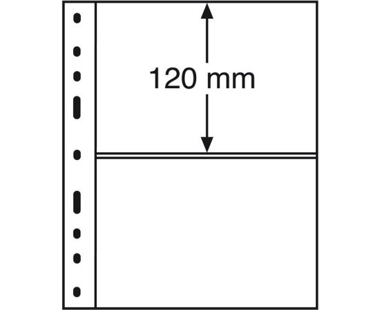 Лист Optima 2С (прозрачный), на 2 ячейки. Leuchtturm