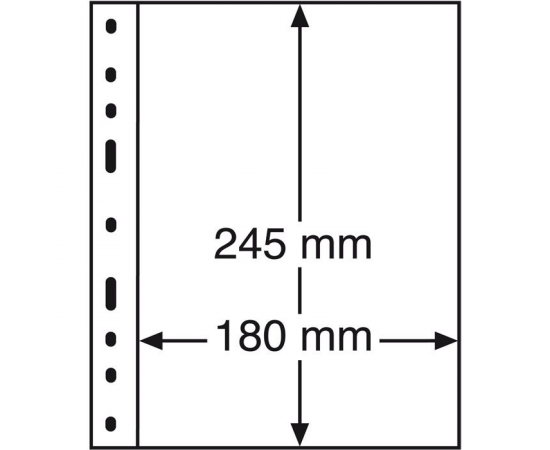 Лист Optima 1С (прозрачный) на 1 ячейку. Leuchtturm