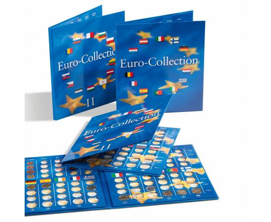 Альбом-планшет EURO-COLLECTION для Евро наборов, 1 том. Leuchtturm, #324353