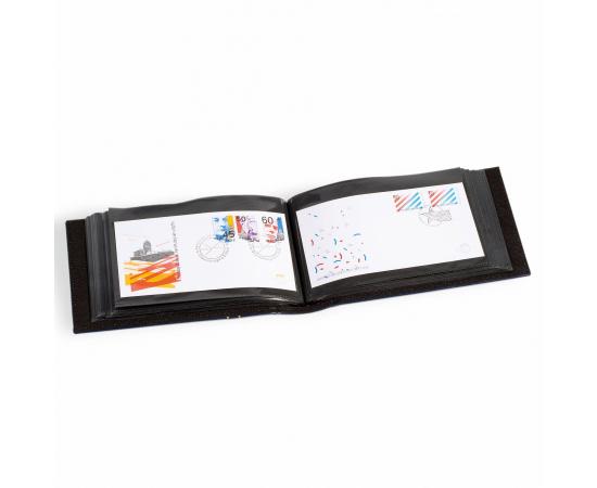 Альбом FDC4SETBL для марочных блоков, листов, евроконвертов и нестандартных открыток, в футляре. LEUCHTTURM, #315933